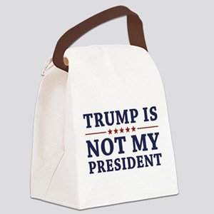 Trump Is Not My President Canvas Lunch Bag