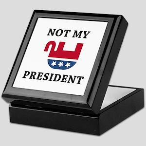 Not My President Keepsake Box