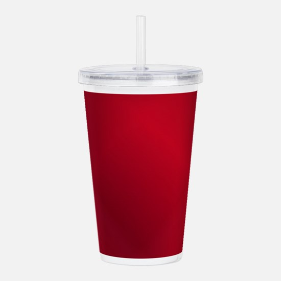 Red Russian Flag Acrylic Double-wall Tumbler