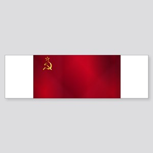 Red Russian Flag Bumper Sticker