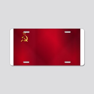 Red Russian Flag Aluminum License Plate