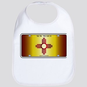 New Mexico Flag License Plate Baby Bib