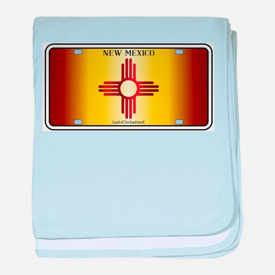 New Mexico Flag License Plate baby blanket