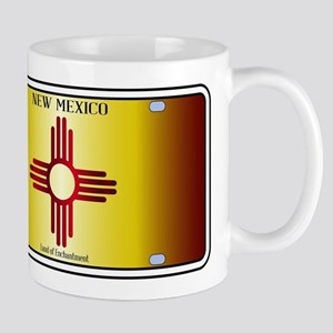New Mexico Flag License Plate Mugs