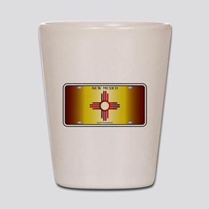 New Mexico Flag License Plate Shot Glass