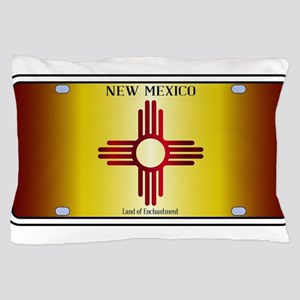 New Mexico Flag License Plate Pillow Case