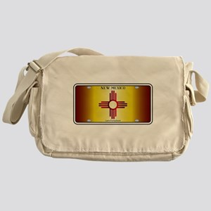 New Mexico Flag License Plate Messenger Bag