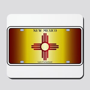 New Mexico Flag License Plate Mousepad
