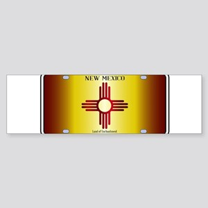 New Mexico Flag License Plate Bumper Sticker