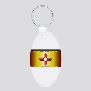 New Mexico Flag License Plate Keychains