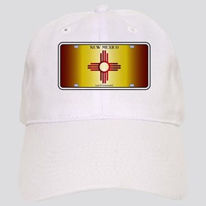 New Mexico Flag License Plate Cap