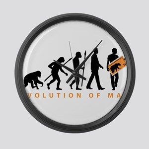 Evolution Stamp collector Large Wall Clock
