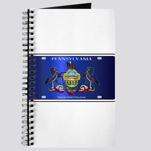Pennsylvania License Plate Flag Journal