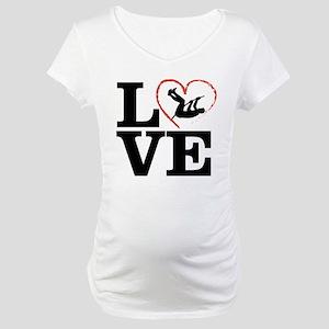 I love Pole Vault Maternity T-Shirt