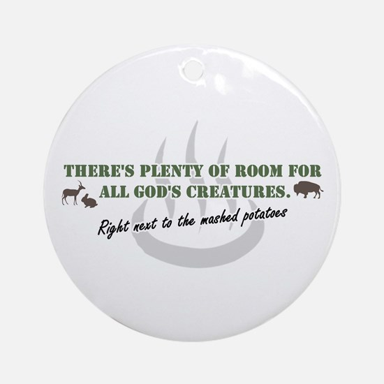 GOD'S BUFFET Ornament (Round)