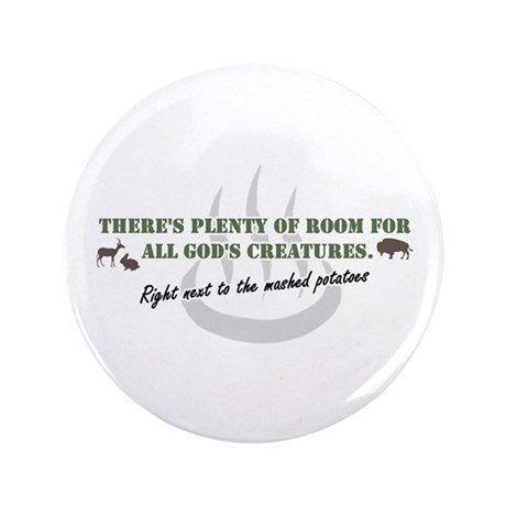 "GOD'S BUFFET 3.5"" Button"