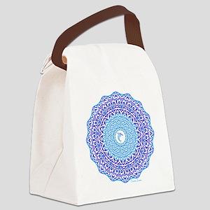 Tribal Dolphin Mandala Canvas Lunch Bag