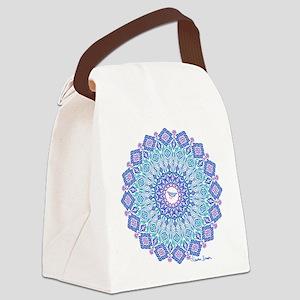 Tribal Manta Mandala Canvas Lunch Bag