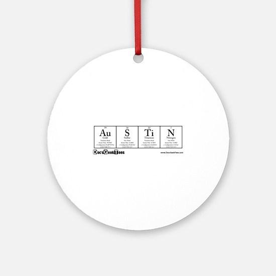 Au S Ti N Transparent Ornament (Round)