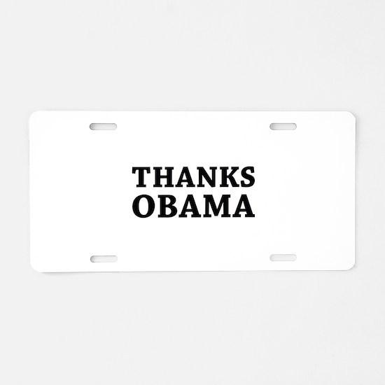 Thanks Obama Aluminum License Plate