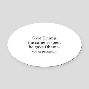 Same Respect Oval Car Magnet