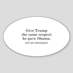 Same Respect Sticker (Oval)