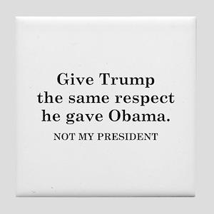 Same Respect Tile Coaster