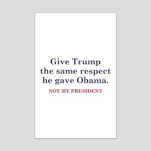 Same Respect Mini Poster Print
