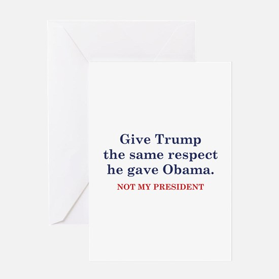 Same Respect Greeting Card