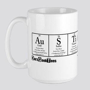 Au S Ti N Transparent Large Mug