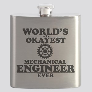 WORLD'S OKAYEST MECHANICAL ENGINEER EVER Flask