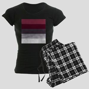 Plum Burgundy Grey Stripes Pajamas
