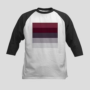 Plum Burgundy Grey Stripes Baseball Jersey