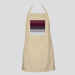 Plum Burgundy Grey Stripes Apron