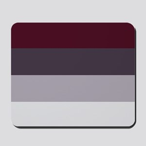 Plum Burgundy Grey Stripes Mousepad