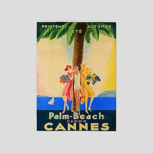Cannes, Palm Beach, France, Vintage 5'x7'a