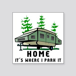Camping Home Sticker
