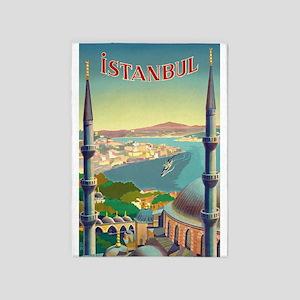 Istanbul, Turkey, Vintage, Travel 5'x7'are