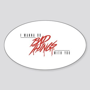 I Bite Sticker (Oval)