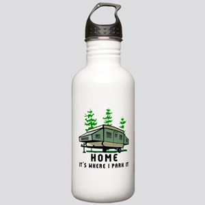 Camping Popup Trailer Stainless Water Bottle 1.0L