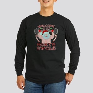 Funny Christmas Santa Claus Weightlifter North Swo