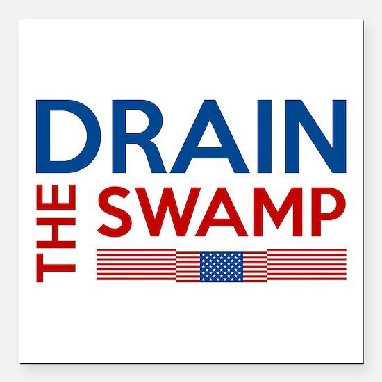 "Drain The Swamp Square Car Magnet 3"" x 3"""