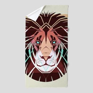 Lion Art Beach Towel