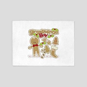 Gingerbread Boy 5'x7'Area Rug