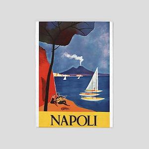 Napoli Vintage Italy Travel Poster 5'x7'ar