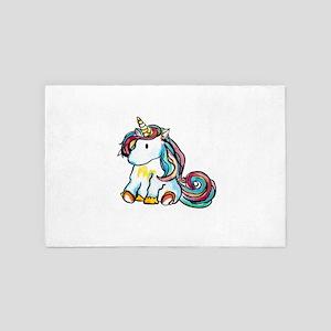 Sitting Unicorn 4' x 6' Rug