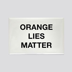Orange Lies Matter Rectangle Magnet