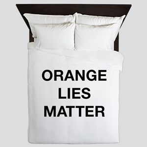 Orange Lies Matter Queen Duvet