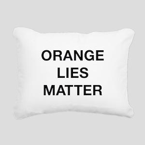 Orange Lies Matter Rectangular Canvas Pillow