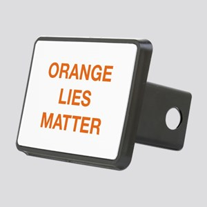 Orange Lies Matter Rectangular Hitch Cover